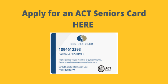 ACT Seniors Card - click here
