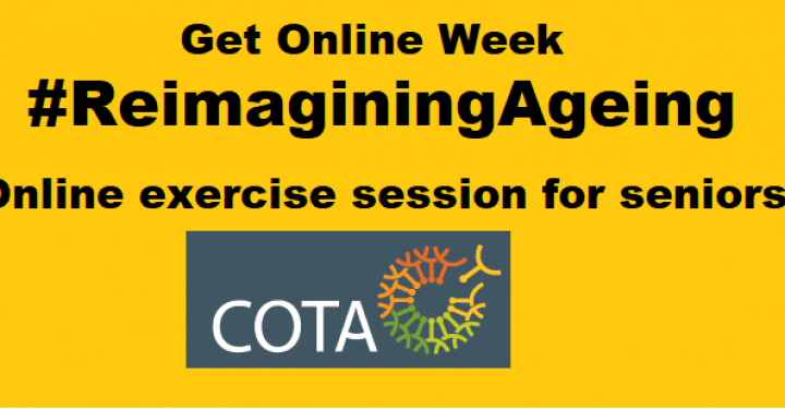 #ReimaginingAgeing – online exercise session for seniors preview image
